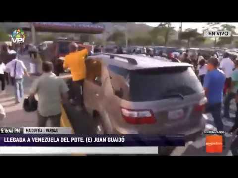 EN VIVO - Llegada a Venezuela del Pdte. (E) Juan Guaidó