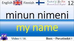 01 Basic  Perustiedot 1 Suomi - Englanti Sanat/Finnish-English Words/Opi englantia/Englanti koulutus