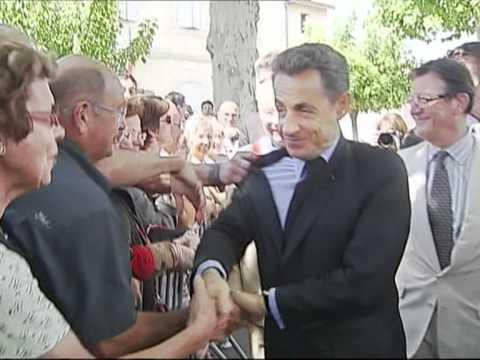 N. Sarkozy bousculé lors d'un déplacement dans le Lot et Garonne