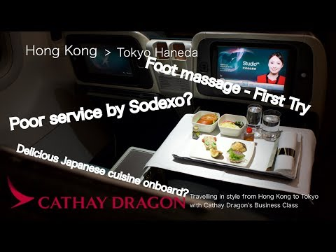 (CC) Travelling in style from Hong Kong to Tokyo with Cathay Dragon's Business Class