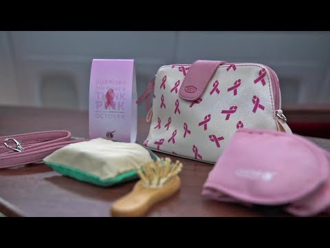 Breast Cancer Awareness Amenity Kit for Qatar Airways travellers