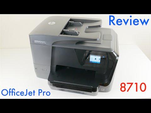 מגניב HP OfficeJet Pro 8710 Wireless All-in-One Inkjet Printer Review LJ-86