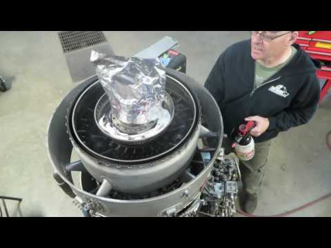 Small turbofan leak check