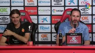 Rueda de prensa de Vicente Moreno tras el RCD Mallorca vs RC Deportivo (3-0)