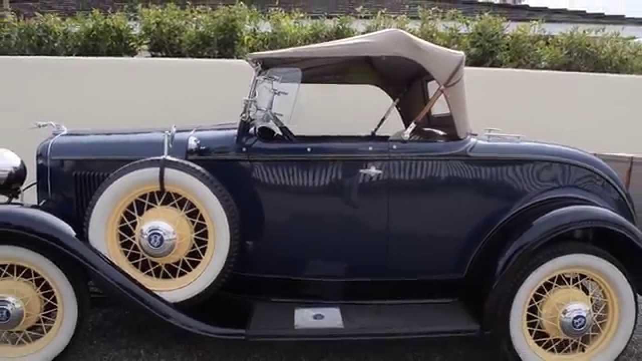 Sold 1932 ford roadster model 18 v 8 deluxe ca youtube