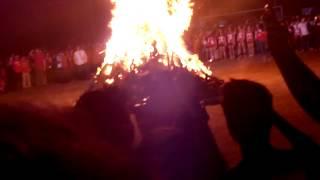 SBCA Bonfire singing the Bedan Hymn 11/14/14