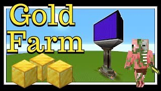 Minecraft Tutorial : Gold Farm 1.13, 1.14 & Newer