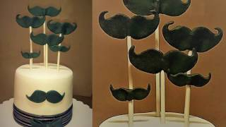 How-to: Fondant Moustache for Cake Decoration