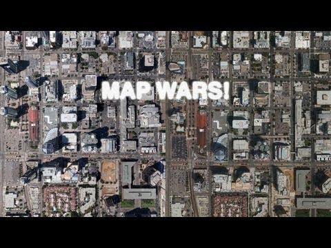 Map Wars: Apple 3D Maps (iOS 6) vs Google Earth 3D Buildings!