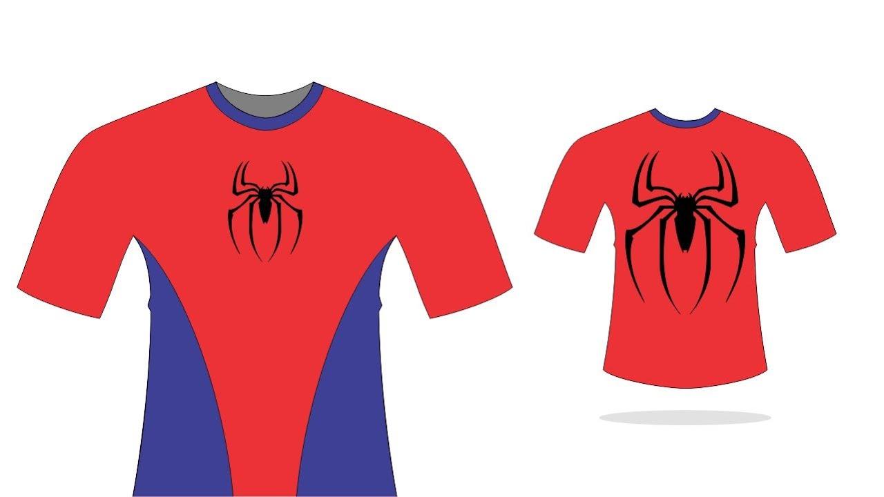 Como Criar Modelos De Camisas No Coreldraw Modelo Homem Aranha 3 Edesign