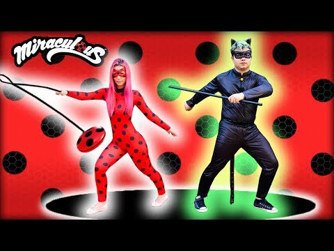 LADY BUG E CAT NOIR NA VIDA REAL - MIRACULOUS LADYBUG AND CAT NOIR IN REAL LIFE
