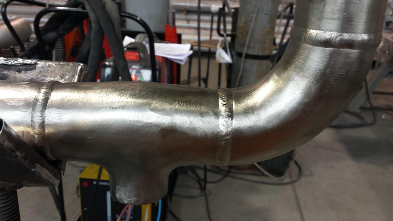 Welding stainless steel pipe tig spawanie rur duplex l