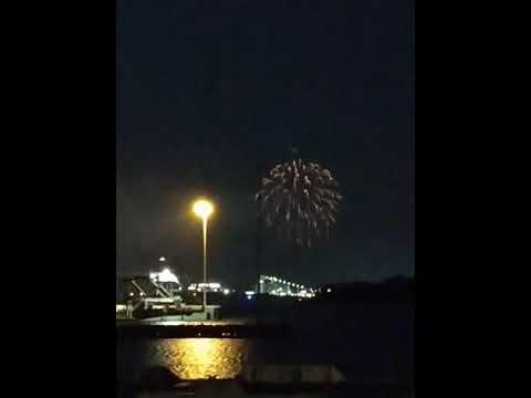 4th Of July Fireworks, Riverfront Park, North Charleston SC 2019