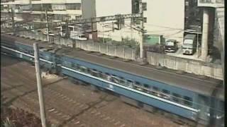 台湾・松山駅付近をゆく莒光と平快 1997年(松山站附近)