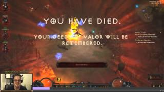 Diablo 3 Reaper of Souls: Hardcore Death Analysis - Rakanishu Bug (RIP Video)