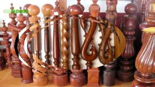 Beautiful wooden staircase - The most beautiful wooden staircase of 2019
