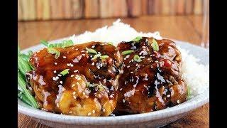 Куриная грудка в соусе Терияки. Chicken breast in Teriyaki sauce.