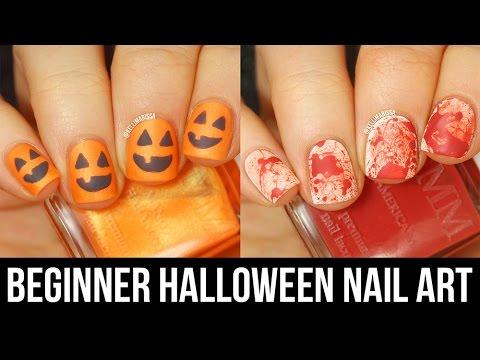 2 easy lastminute halloween nail art designs for