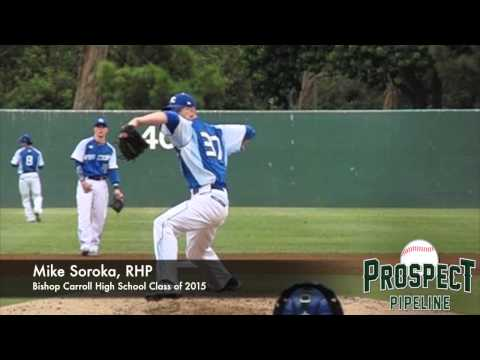 Mike Soroka, RHP, Bishop Carroll High School, Pitching Mechanics at 200 fps