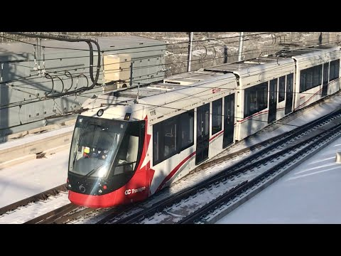 Ottawa LRT Departs And Arrives At Tunney's Pasture
