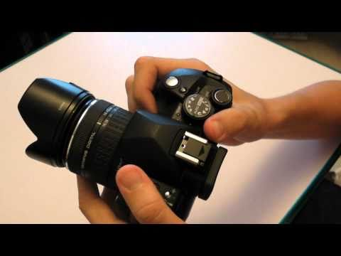 Olympus E-520 DSLR Camera Unboxing and Overview