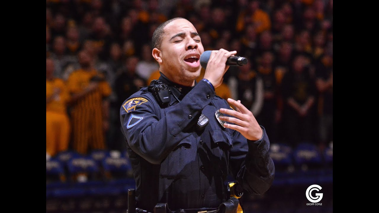 Cop Steps In To Sing National Anthem When Performer Can't