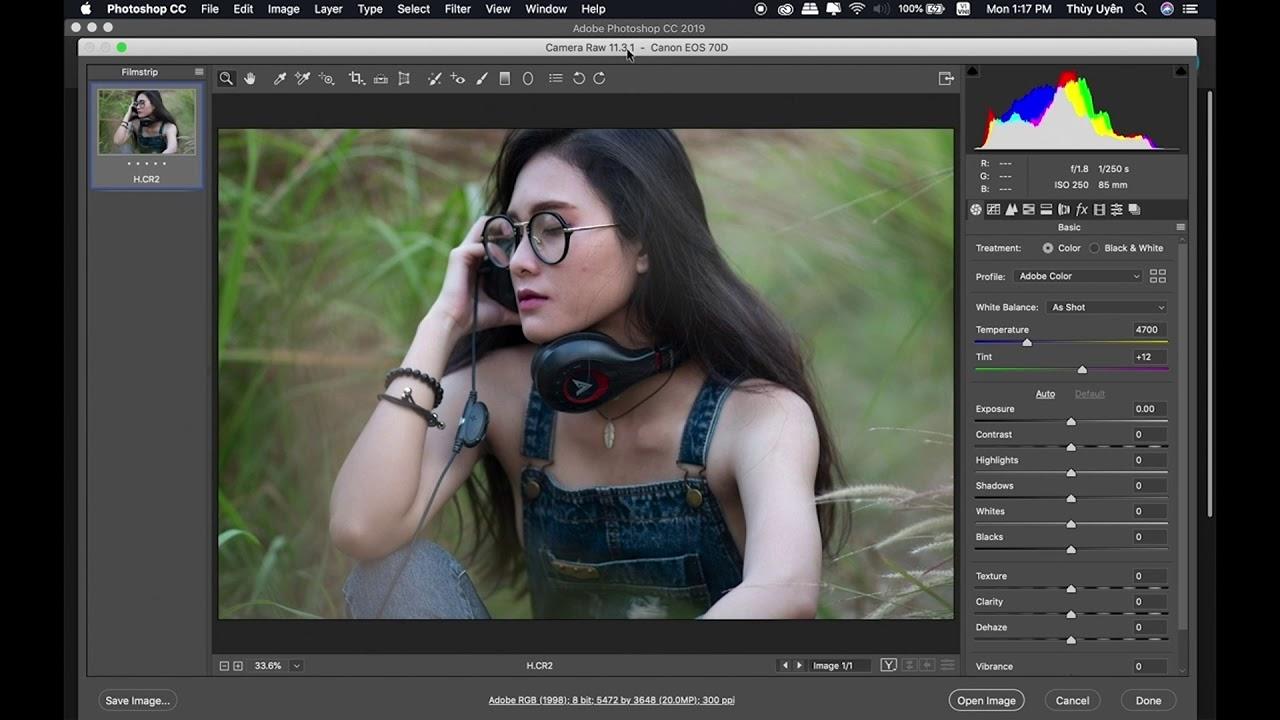 Bài 81: Camera Raw, Adobe Bridge, Phân biệt RAW và JPG | Làm Chủ Photoshop CC 2018
