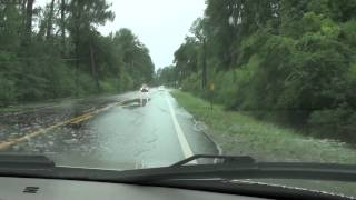 Pensacola, FL Flooding: Riding In Deep Water