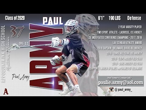 Paul Army 2018 Highlights, Appoquinimink High School
