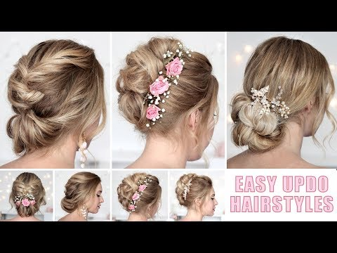Wedding hairstyles for medium/long hair tutorial ❤ Quick and easy updos thumbnail