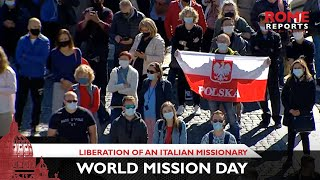 Pope shows gratitude for liberation of an Italian missionary on World Mission Day