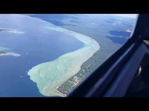 N6221W Flight over Higgins Lake, MI