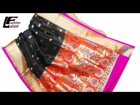 पैठनी ब्लाउज डिजाइन, paithani saree makeup, paithani saree draping