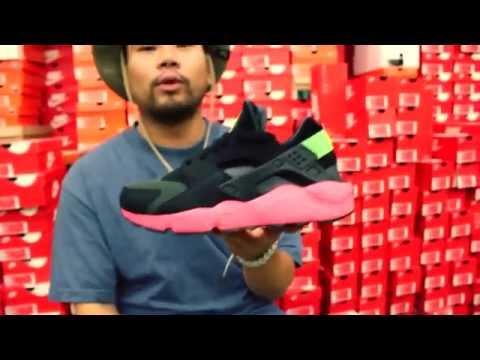 Nike Air Huarache Womens Shoes Blue Pink 318429 402