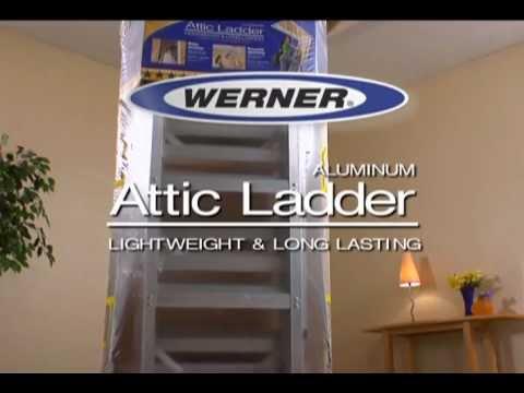 Werner Aluminum Attic Ladder Long Installation Video Doovi