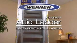 Werner Aluminum Attic Ladder - Lightweight