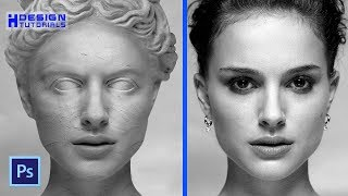 transform a person into a stone statue in Photoshop
