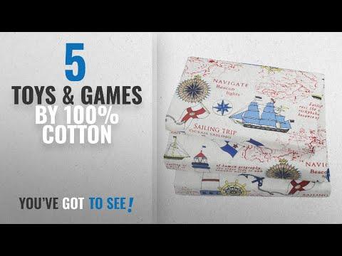 Top 10 100% Cotton Toys & Games [2018]: J-pinno Cute Cartoon Sailboat Ocean Sea Adventure Printed