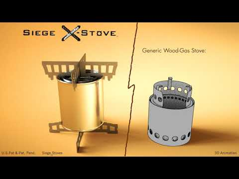 FASTEST WOOD-GAS STOVE BUILD with SIEGE Cross-Members - MOST VERSATILE GASIFIER STOVE ON THE PLANET!