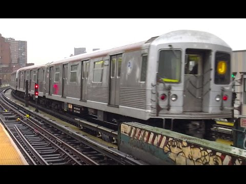 ⁴ᴷ Rush Hour J/M/Z line Action – With R143 Z Train