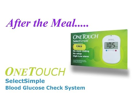 OneTouch Simple Select Blood Glucose Check Demo after the meal