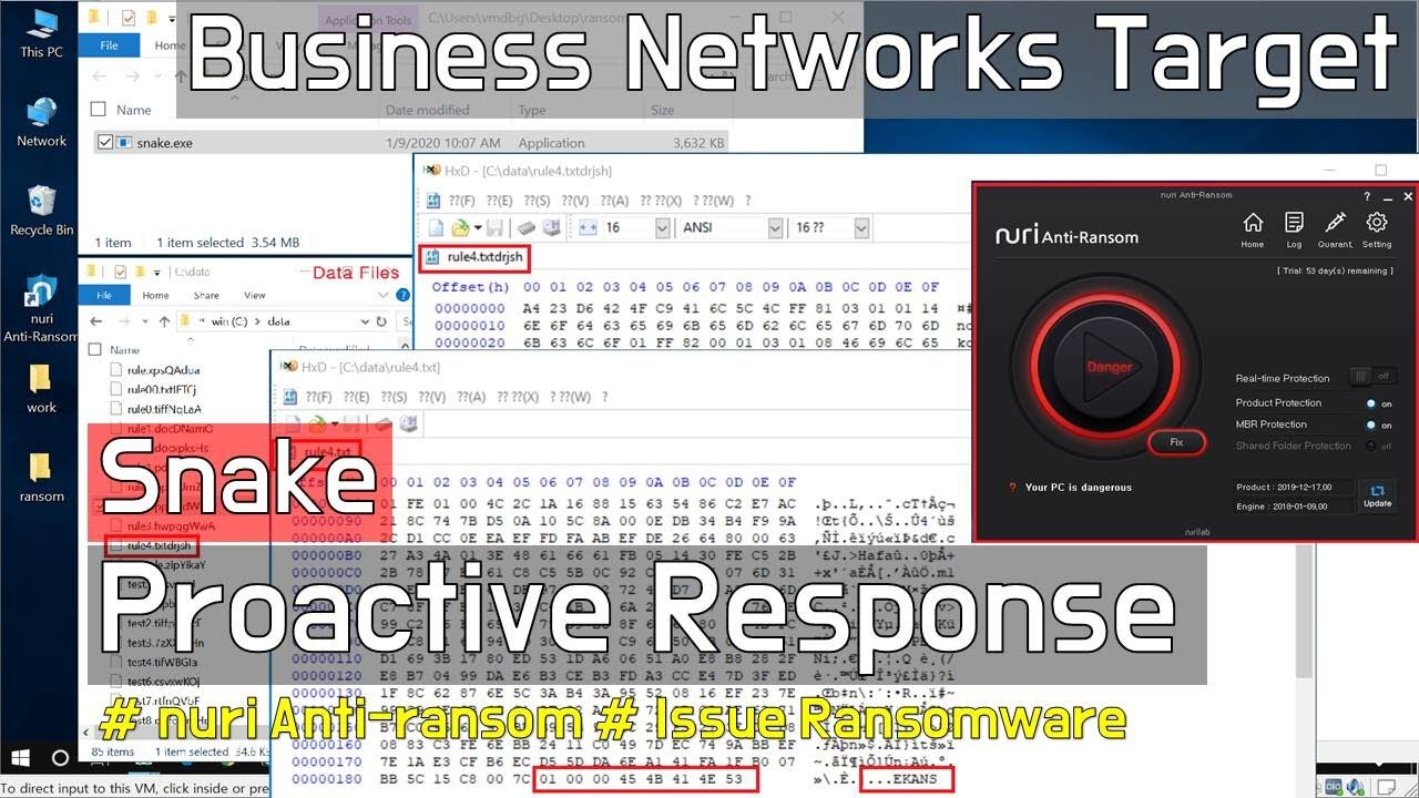 Snake Ransomware Proactive Response  -  NAR(nuri Anti-Ransom)