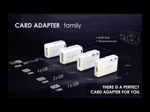 CARD Adapter - The First Travel Adapter with TYPE C Charger