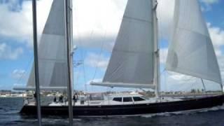 Beagle V Sailing On San Diego Bay, 11+ Knots (2.7.10)