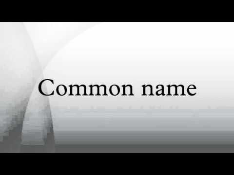 Common name