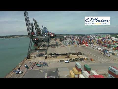 Controlled Collapse of Quay Crane - Port of Felixstowe, UK