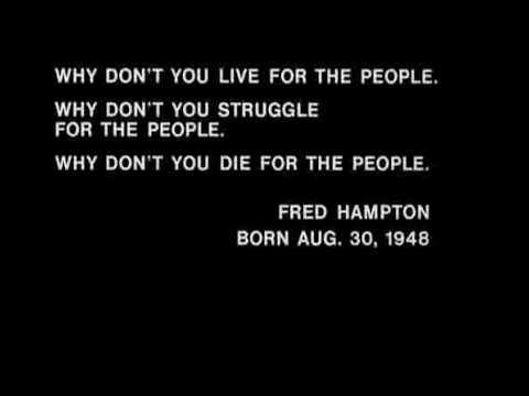 "Fred Hampton Speech: ""Why don't you die for the people"""