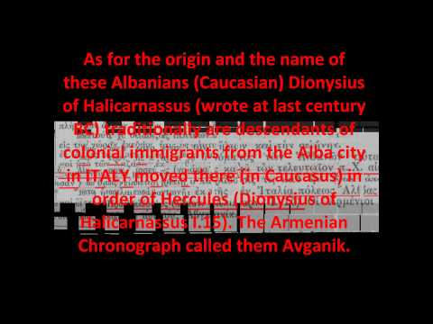 CAUCASIAN ALBANIANS WERE ANCIENT GREEKS