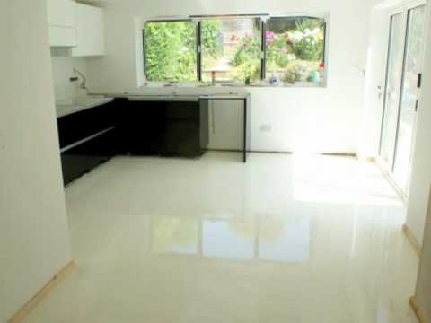 Sion Surfaces Resin Flooring White Pearl