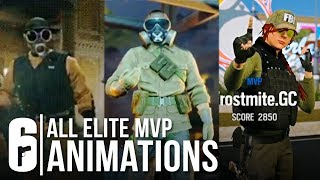Rainbow Six Siege - ALL ELITE SKINS MVP ANIMATION + ASH, THATCHER, FUZE (All Leaked Victory Pose)